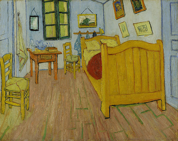 `The Artist's Bedroom` by Vincent van Gogh
