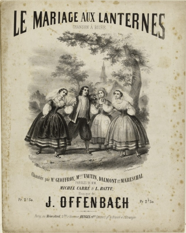 sheet music to the opera